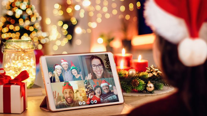 kerstmis op afstand