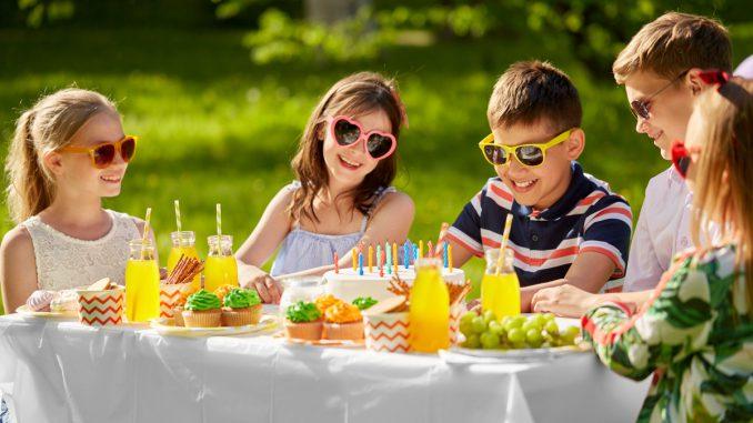 verjaardagsfeestje buiten