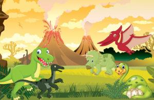 barnebursdag dinosaurer