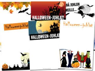 halloween kutsukortit